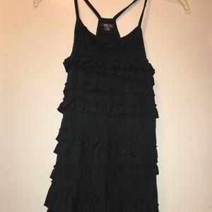 Girl's Black Ruffle Dress Sz Large